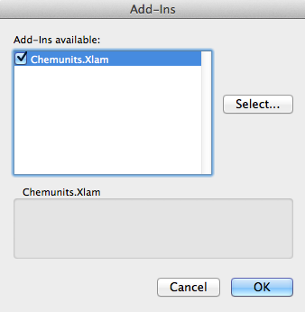 ChemAddInSelect
